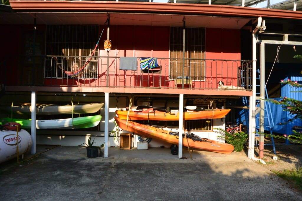 """""""Red"""" is staff housing. Also, we've got kayaks!"""